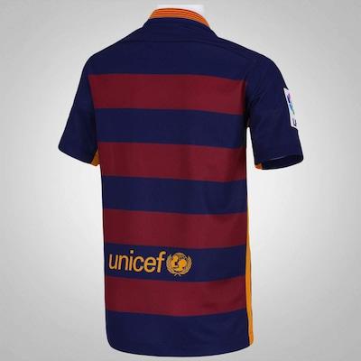 Camisa Barcelona I 15/16 Nike - Infantil