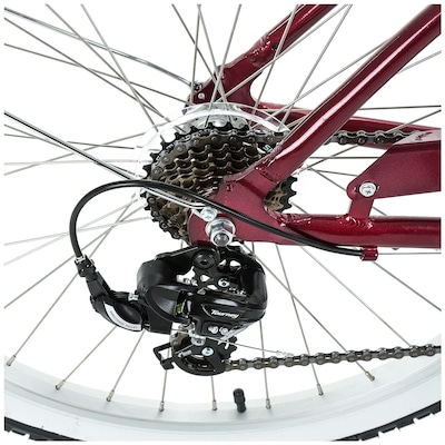 Bicicleta Oxer Sizzla - Aro 26 - Freio V-Brake - Câmbio Traseiro Shimano - 7 Marchas - Feminina