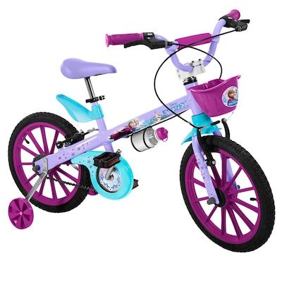 Bicicleta Bandeirante Frozen Disney - Aro 16 - Feminina - Infantil