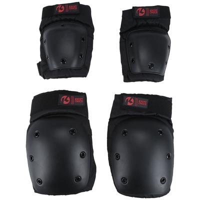 Kit de Proteção para Skate Kryptonics com 2 Joelheiras e 2 Cotoveleiras - Adulto