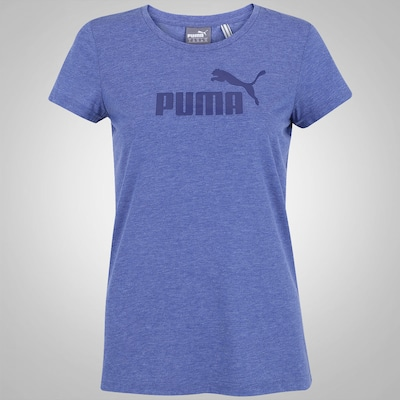 Camiseta Puma Ess Large Logo Heather - Feminina