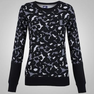 Blusão Nike Club Crew Aop - Feminino