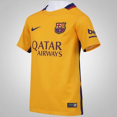 Camisa Barcelona II 15/16 Nike - Infantil