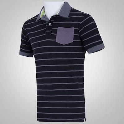Camisa Polo Fatal Fio Tinto Listrada - Masculina