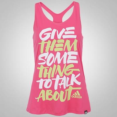 Camiseta Regata adidas Graf Give Them - Feminina