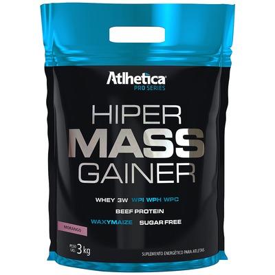 Hipercalórico Atlhetica Hiper Mass Gainer - Sabor Morango - 3 Kg