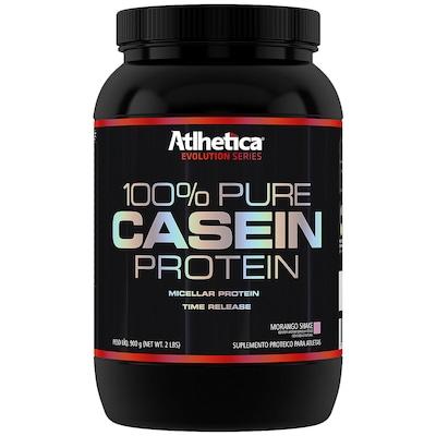 Proteina Atlhetica 100% Pure Casein Protein - Morango - 900g