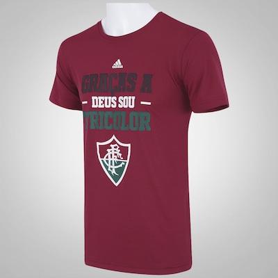 Camiseta do Fluminense Gráfica Tricolor adidas - Masculina