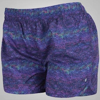 Shorts Oxer Estampado Trico - Feminino