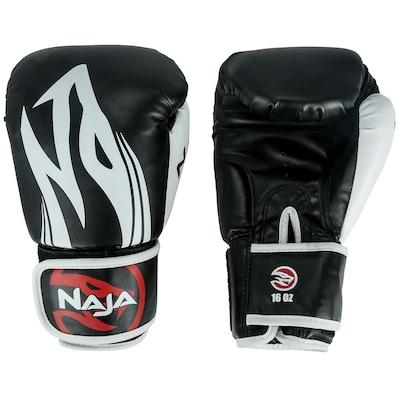 Kit de Boxe Naja: Bandagem + Protetor Bucal + Luvas de Boxe Extreme - 16 OZ - Adulto