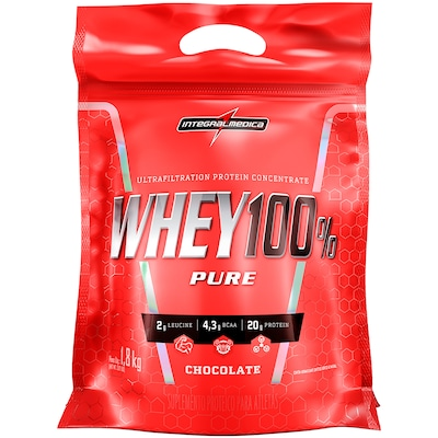 Whey Protein Integralmédica Super Whey 100% Pure - Chocolate - 1,8Kg