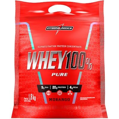 Whey Protein Integralmédica Super Whey 100% Pure - Morango - 1,8Kg