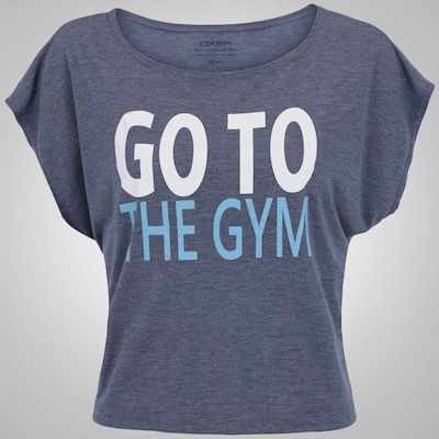Camiseta Cropped Oxer Go To The Gym - Feminina