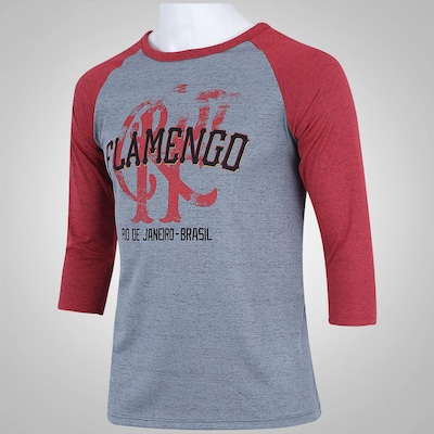 Camiseta Manga Longa Braziline Flamengo Marsh ADT - Masculina