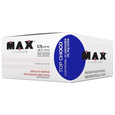 Barra de Proteína Max Titanium Top Choco - Chocolate - 15 Unidades