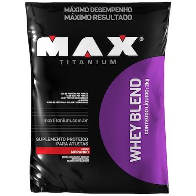 Whey Blend - 2 Kg - Sabor Morango - Max Titanium