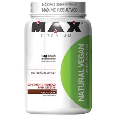 Proteína Max Titanium Natural Vegan - Chocolate - 500g