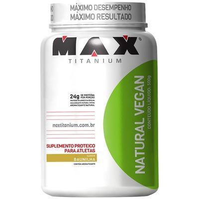 Proteína Max Titanium Natural Vegan - Baunilha - 500g