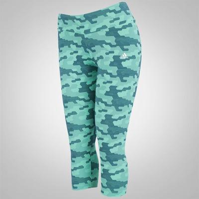 Calça Corsário Estampada adidas Gráfica Workout - Feminina