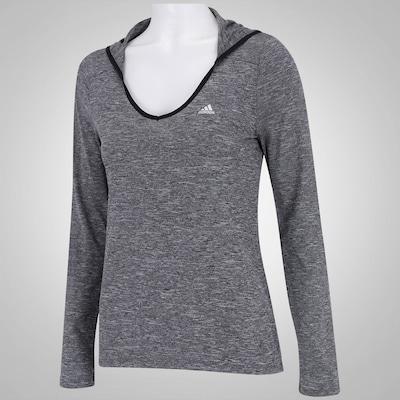 Camiseta Manga Longa adidas Clima Mescla - Feminina