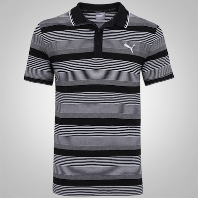 Camisa Polo Puma Fun Dry Stripe Jersey - Masculina
