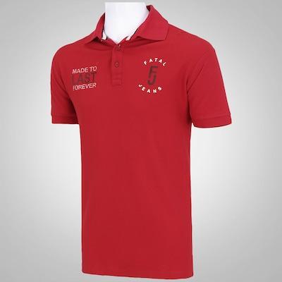 Camisa Polo Fatal Piquet Lavada APQ - Masculina
