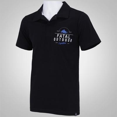Camisa Polo Fatal Estampada 13027 - Masculina