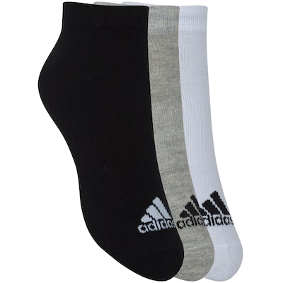 Kit de Meias adidas No Show com 3 Pares - Adulto