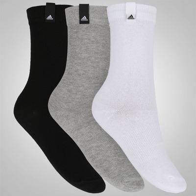 Kit de Meias adidas Crew Tag com 3 pares - Adulto