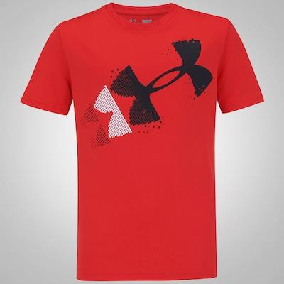Camiseta Under Armour Rising Pixelated - Infantil