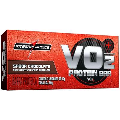 Barra de Proteina Integralmédica VO2 Protein Bar - Chocolate - Caixa com 3 Unidades - 90g