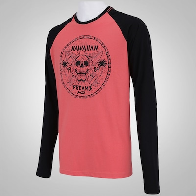 Camiseta Manga Longa HD Raglan Hawaiian Bones - Masculina