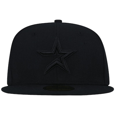 Boné Aba Reta New Era 59FIFTY Houston Astros MLB Black on Black - Fechado - Adulto