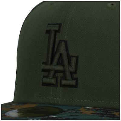 Boné Aba Reta New Era 59FIFTY Los Angeles Dodgers MLB Genuine - Fechado - Adulto