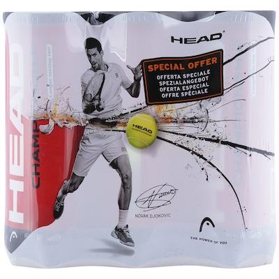 Kit de Bola de Tênis Head Championship Novak - 6 Tubos com 3 Bolas cada