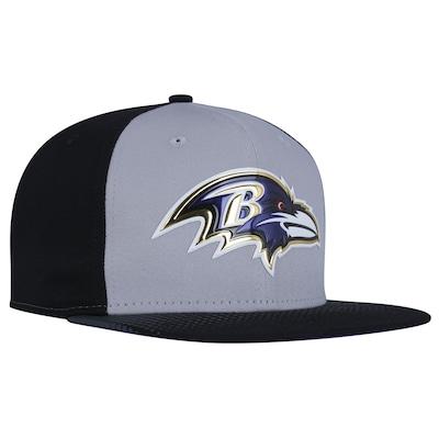 Boné Aba Reta New Era 9FIFTY Baltimore Ravens Draft Black/Grey NFL Team - Snapback - Adulto