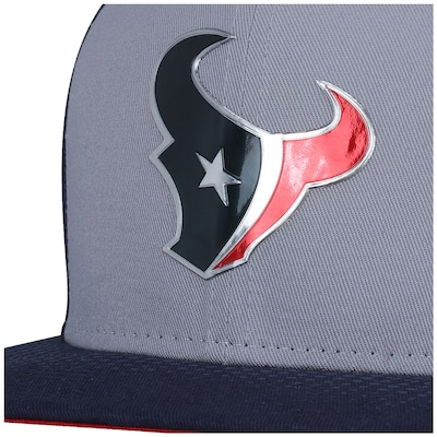 Boné Aba Reta New Era 9FIFITY Houston Texans Draft NFL Gray/Blu - Snapback - Adulto