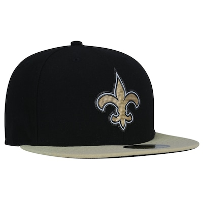 Boné Aba Reta New Era 59FIFTY New Orleans Saints NFL Black - Fechado - Adulto