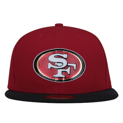 Boné Aba Reta New Era 59FIFTY San Francisco 49ers NFL Red - Fechado - Adulto
