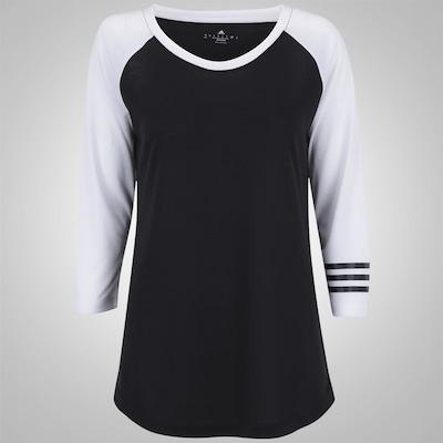 Camiseta Manga 3/4 adidas Raglan 3S - Feminina