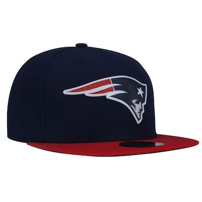 Boné Aba Reta New Era 59FIFTY New England Patriots NFL BlueDark - Fechado - Adulto