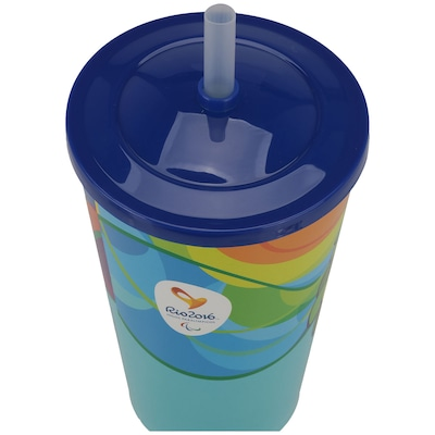 Copo com Canudo Brindz Tom - 550ml