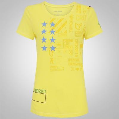 Camiseta Reebok MC F R-CF Training Gra - Feminina