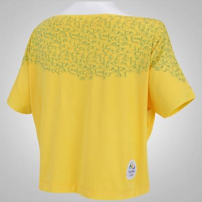 Camiseta Cropped Braziline Maravilha Rio 2016 - Feminina