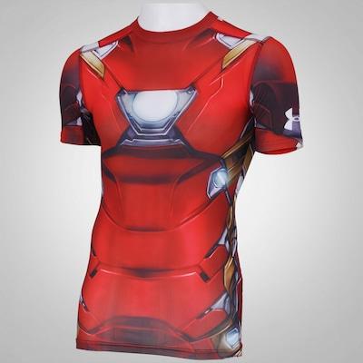 Camiseta de Compressão Under Armour Homem de Ferro - Masculina