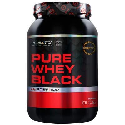 Whey Protein Probiótica Pure Whey Black - Baunilha - 900g