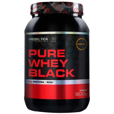 Whey Protein Probiótica Pure Whey Black - Chocolate - 900g