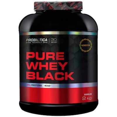 Whey Protein Probiótica Pure Whey Black - Baunilha - 2 Kg