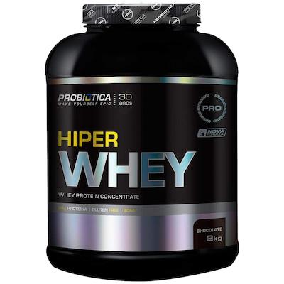 Whey Protein Concentrado Probiotica Hiper Whey - Chocolate - 2 Kg