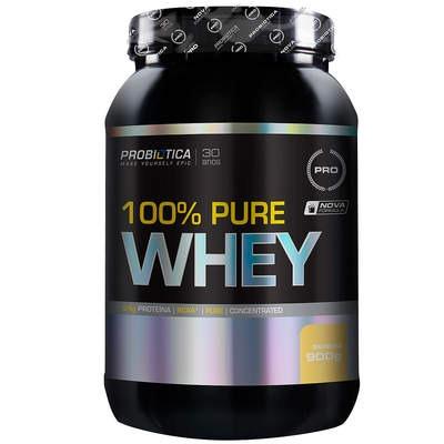 Whey Protein Concentrado Probiótica 100% Pure Whey - Baunilha - 900g